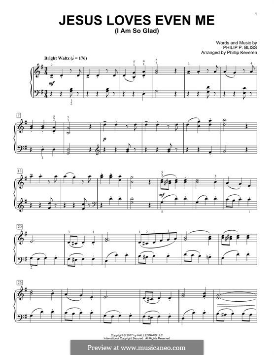 Jesus Loves Even Me (I am So Glad): Para Piano by Philip Paul Bliss