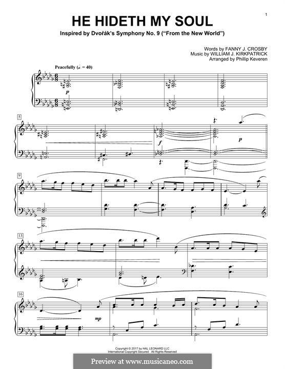 He Hideth My Soul: Para Piano by William (James) Kirkpatrick