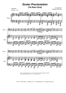 Easter Proclamation (The Risen Christ): For trombone duet by Georg Friedrich Händel, Ludwig van Beethoven, folklore