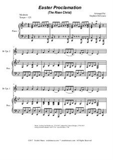 Easter Proclamation (The Risen Christ): For Bb-trumpet duet by Georg Friedrich Händel, Ludwig van Beethoven, folklore