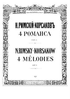 Four Romances, Op.4: set completo by Nikolai Rimsky-Korsakov