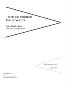 Hallelujah! What a Savior!: Theme and Variations – Bb clarinet by Philip Paul Bliss