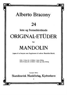 24 Studies for the Mandolin, Part 2, Op.25: 24 Studies for the Mandolin, Part 2 by Alberto Bracony