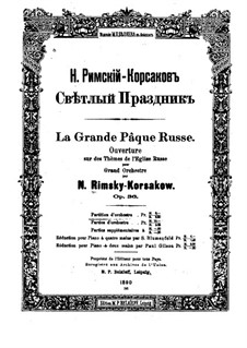 Russian Easter Festival Overture, Op.36: partitura completa by Nikolai Rimsky-Korsakov