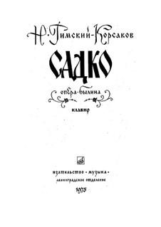 Sadko. Opera: introdução by Nikolai Rimsky-Korsakov