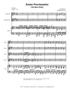 Easter Proclamation (The Risen Christ): para quarteto de saxofone by Georg Friedrich Händel, Ludwig van Beethoven, folklore