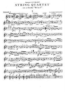 String Quartet on the Theme 'B-La-F': Movement I – parts by Nikolai Rimsky-Korsakov
