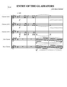 Entrance of the Gladiators, Op.68: For quintet clarinets by Julius Fučík