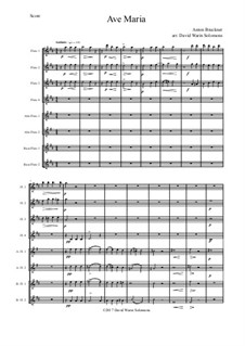 Ave Maria, WAB 6: For flute choir by Anton Bruckner