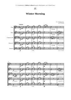 No.2 Winter Morning: For woodwind quintet by Pyotr Tchaikovsky