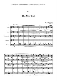 No.9 The New Doll: For woodwind quintet by Pyotr Tchaikovsky
