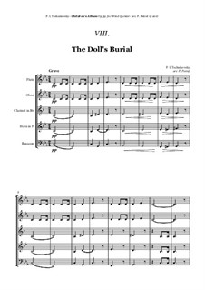 No.7 The Doll's Funeral: For woodwind quintet by Pyotr Tchaikovsky