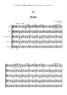 No.8 Waltz: For woodwind quintet by Pyotr Tchaikovsky