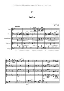No.14 Polka: For woodwind quintet by Pyotr Tchaikovsky