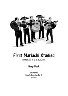 First Studies for Mariachi: parte harpa by folklore