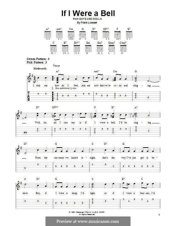 If I Were a Bell: Para guitarra com guia by Frank Loesser