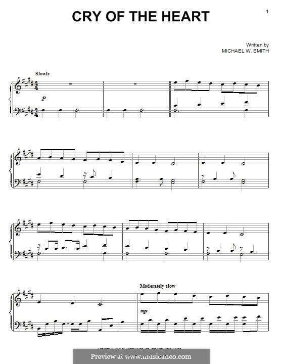 Cry of the Heart: Para Piano by Michael W. Smith