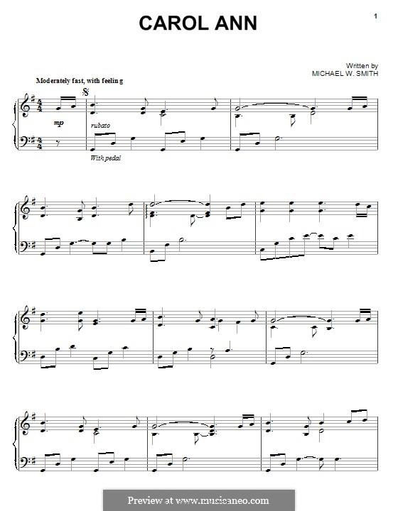 Carol Ann: Para Piano by Michael W. Smith