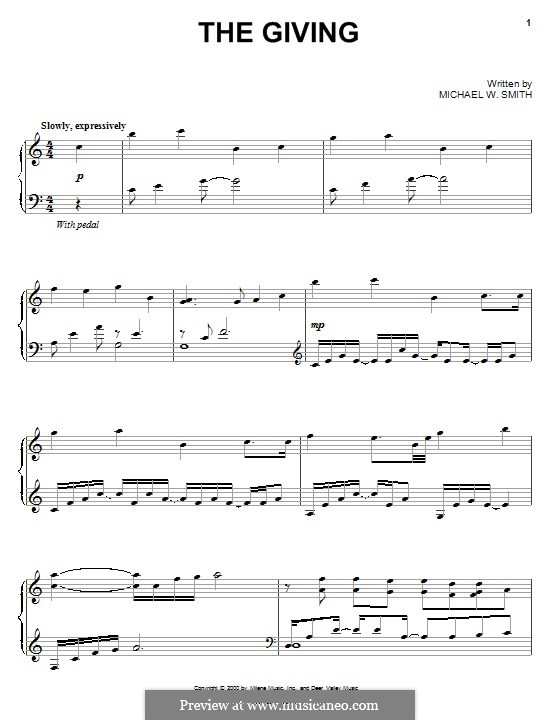 The Giving: Para Piano by Michael W. Smith