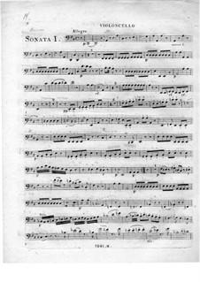 Three Sonatas for Piano, Flute and Cello: parte violoncelo by Johann Andreas Amon