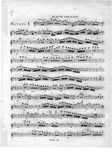 Three Sonatas for Piano, Flute and Cello: parte flauta by Johann Andreas Amon
