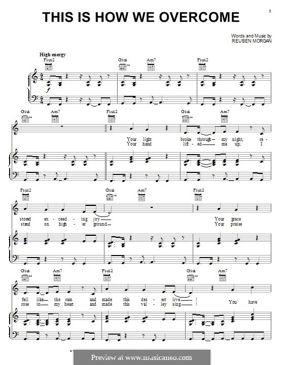 This Is How We Overcome: Para vocais e piano (ou Guitarra) by Reuben Morgan