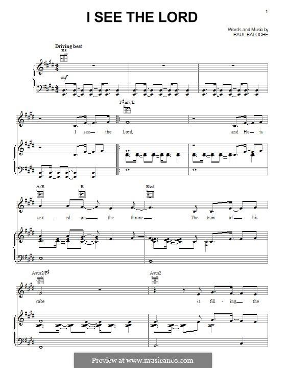 I See the Lord: Para vocais e piano (ou Guitarra) by Paul Baloche