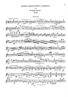 Gesellschaftsquartett Nr.3, Op.72: Violinstimme by Johann Hermann Berens