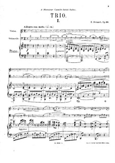 Piano Trio in A Minor, Op.30: Partitura completa by Émile Bernard