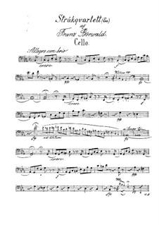 String Quartet No.3 in E Flat Major: parte violoncelo by Franz Berwald