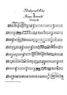 String Quartet No.3 in E Flat Major: violino parte II by Franz Berwald