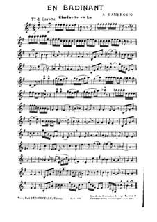 En Badinant: parte clarinete by Alfredo D'Ambrosio