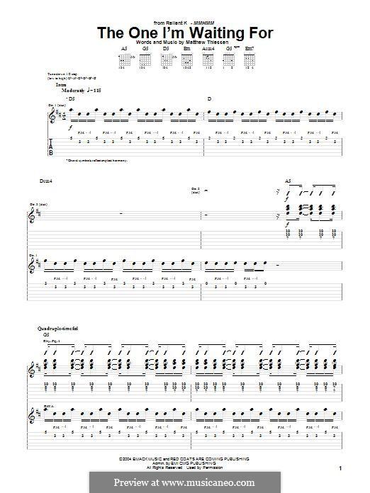 The One I'm Waiting for (Relient K): Para guitarra com guia by Matt Thiessen