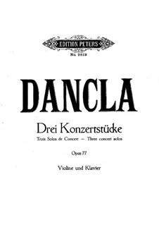 Three Concert Pieces, Op.77: set completo by Charles Dancla
