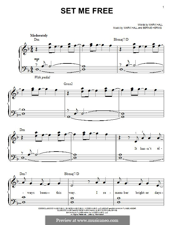 Set Me Free (Casting Crowns): Para Piano by Bernie Herms, Mark Hall
