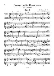 Twelve Little Duets for Two Violins, Op.38: Dueto No.1 by Jacques Féréol Mazas