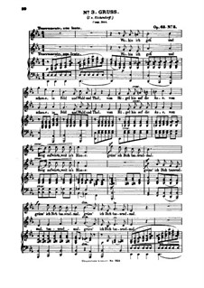 Six Songs, Op.63: Nr.3 Gruß by Felix Mendelssohn-Bartholdy