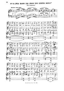 Three Folk Songs, WoO 11: No.1 Wie kann ich froh und lustig sein by Felix Mendelssohn-Bartholdy