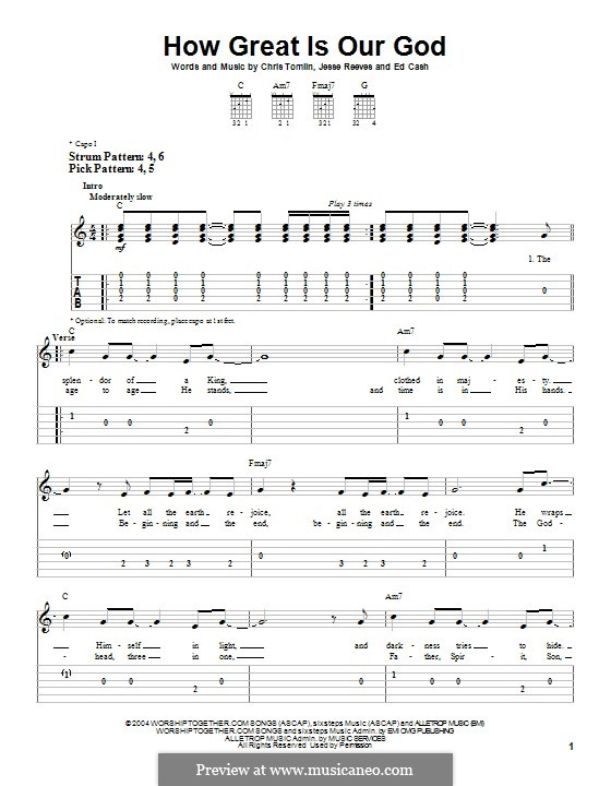 How Great Is Our God: Para guitarra com guia by Chris Tomlin, Ed Cash, Jesse Reeves