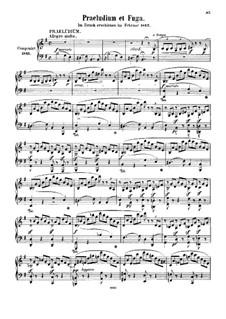 Prelude and Fugue in E Minor, WoO 13: Para Piano by Felix Mendelssohn-Bartholdy