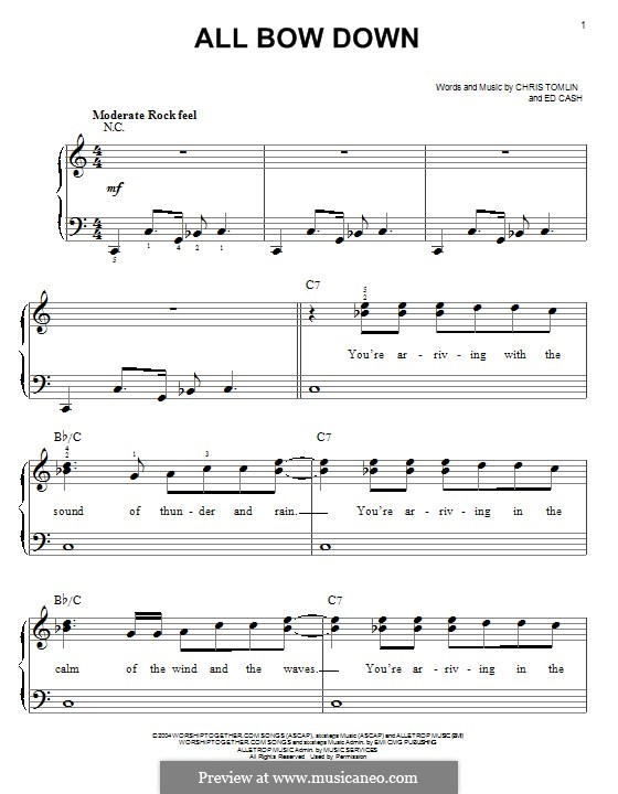 All Bow Down: Para Piano by Chris Tomlin, Ed Cash