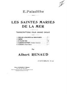 Les Saintes-Marie de la mer: No.2 Prière, for Organ by Emile Paladilhe
