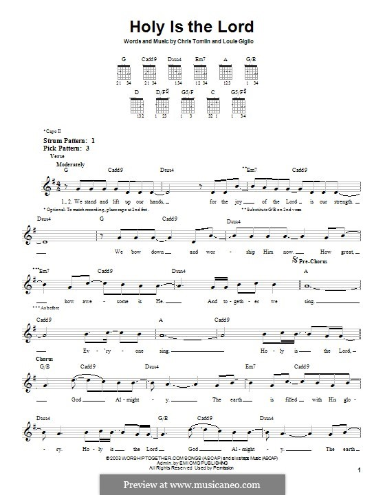 Holy is the Lord: Para guitarra com guia by Chris Tomlin, Louie Giglio