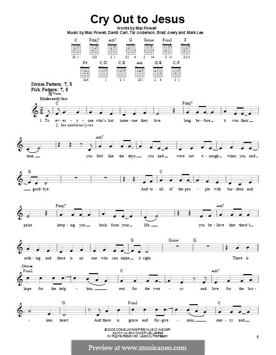 Cry Out to Jesus (Third Day): Para guitarra com guia by Brad Avery, Tai Anderson, David Carr, Mac Powell, Mark Lee