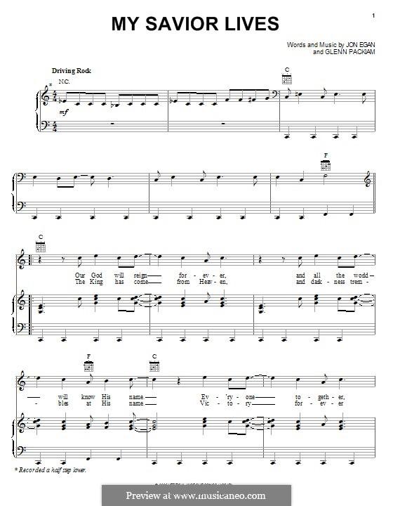My Savior Lives (Desperation Band): Para vocais e piano (ou Guitarra) by Glenn Packiam, Jon Egan