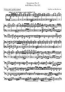 Complete Symphony: parte violoncelo e contrabaixo by Ludwig van Beethoven