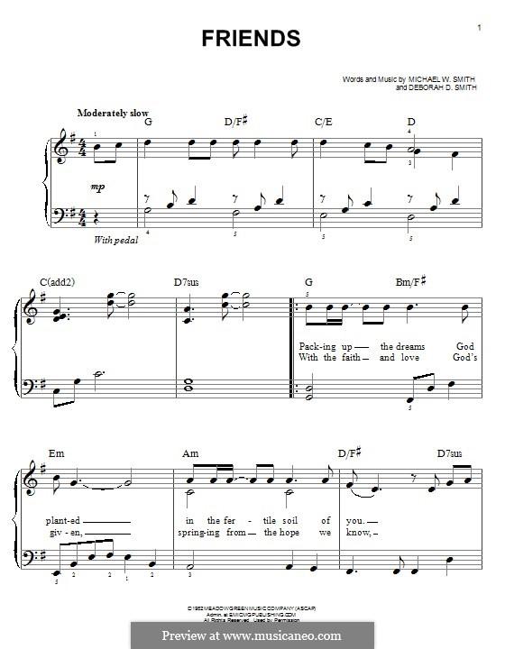 Friends: Para Piano by Michael W. Smith, Deborah D. Smith