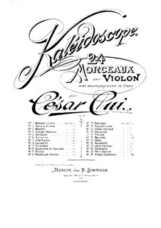 No.13 Badinage: Score, Parte de solo by César Cui