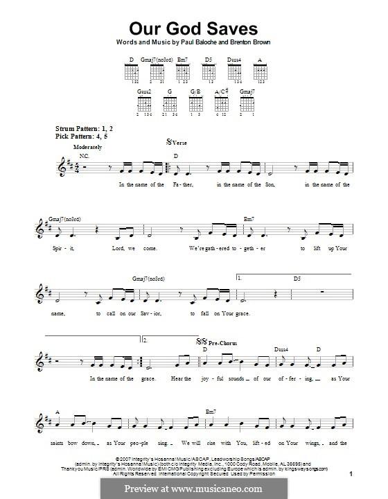 Our God Saves: Para guitarra com guia by Paul Baloche, Brenton Brown