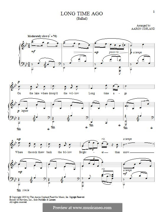 Long Time Ago: Para vocais e piano by folklore